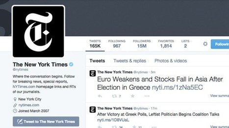 A lezione di Twitter dal New York Times - Wired.it | web mkt | Scoop.it
