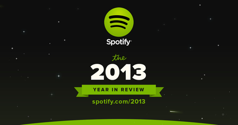 Spotify Year in Review 2013 | Culture & Entertainment - Digital Marketing | Scoop.it