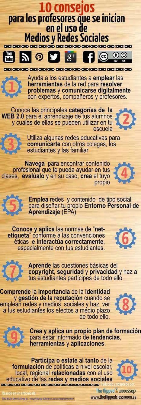 Redes Sociales en Internet - 10 Consejos para los Docentes | Infografía | TIC en infantil, primaria , secundaria y bachillerato | Scoop.it