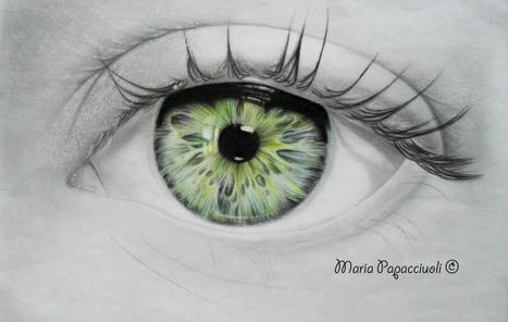 perfect drawing of a realistic eye | the different types of Art | Scoop.it