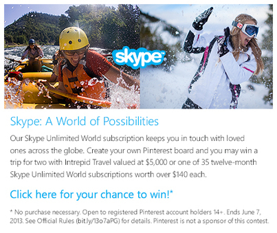 Skype: A World of Possibilities Contest – - Skype Blogs | Possibilities by_Xu Yan Sheng | Scoop.it