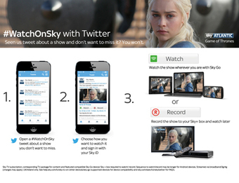 Sky launches new Social TV strategy: #WatchOnSky on Twitter - APP Market | screen seriality | Scoop.it