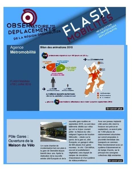 Grenoble - Flash Mobilités n°28, juillet | Dernières publications des agences d'urbanisme | Scoop.it