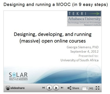 Designing and running a MOOC (in 9 easy steps) | Educational Technology in Higher Education | Scoop.it