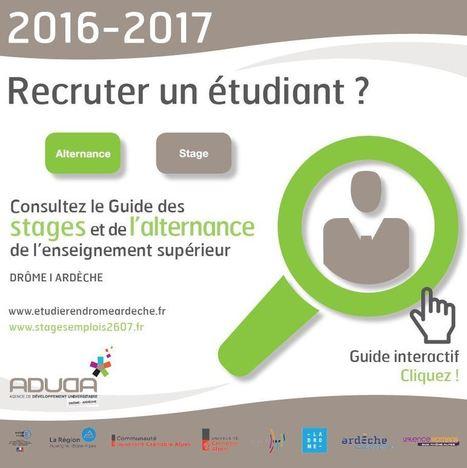 Étudier en Drôme-Ardèche - Guide des stages | Nord Ardéche Développement économique | Scoop.it