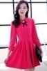 3/4 Sleeve Pleated A-line Dress - OASAP.com | Oasap street fashion | Scoop.it
