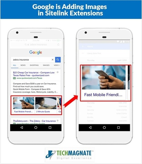 Google has come up with a new feature in AdWords- 'Visual Sitelinks' for Mobile Search Ads | SEO Tips | Scoop.it