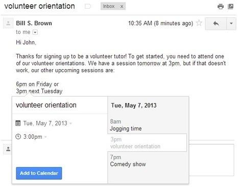Podemos añadir eventos a Google Calendar desde Gmail | Educacion, ecologia y TIC | Scoop.it