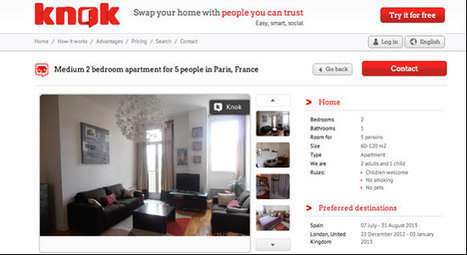 Fast-growing Knok thinks it can disrupt the home exchange market - Tnooz   Home Exchange   Scoop.it