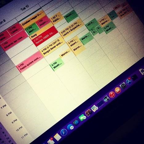 A esto llamo tener una agenda saturado #FullWorking #work #Job #LifeStyle - Cristian De Nardo | Facebook | management | Scoop.it
