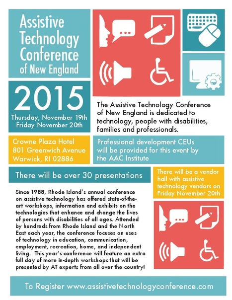 Last Call for AT Vendors at the Assistive Tech Conference of New England | UDL, mobile learning, and assistive technology | Scoop.it