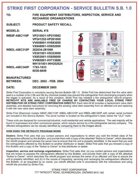 News and Recall   h2ofire   Fire extinguishers maintenance   Scoop.it