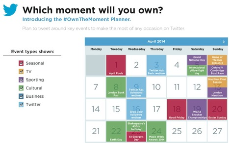 Sample Twitter Editorial Calendar | Twitter best practices, engagement and research | Scoop.it