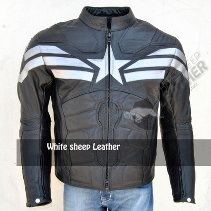 Captain America 2014 Leather Jacket Captain America the Last Stand Motorbike Black Leather jacket with armours | movie leather jackets | Scoop.it