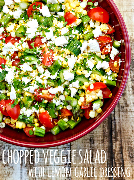 chopped veggie salad with lemon-garlic dressing | The Butter | Scoop.it