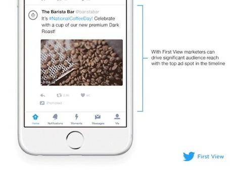 Twitter Launches 'First View,' Guaranteeing Prime Ad Real Estate on Timelines | Social Media Bites! | Scoop.it