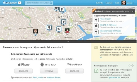 Foursquare et son influence sur le web | Victor Lerat | Gamification, ludification, game design | Scoop.it