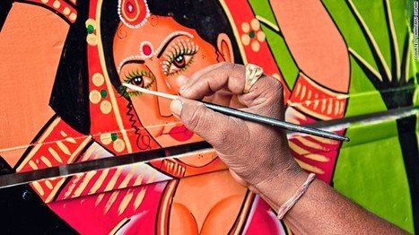 Pimp my ride: The psychedelic world of Indian truck art | #Design | Scoop.it