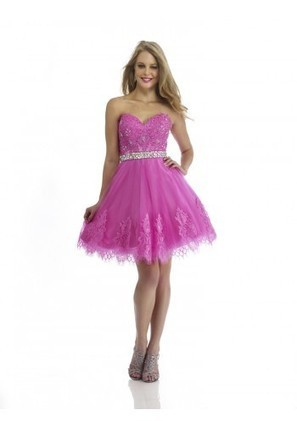 A Line Sweetheart Mini Pink Organza Homecoming Dress Adomm0142 - Homecoming Dresses - Special Occasion Dresses | mode | Scoop.it