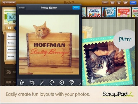 ScrapPad A Great Scrapbooking iPad App is Now Free Was $4.99 Grab It | Learning Molecules | Scoop.it