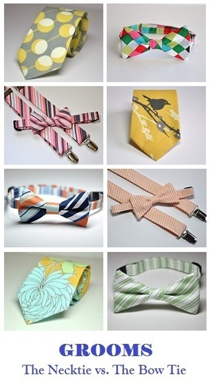 Grooms: The Necktie vs. The Bow Tie - A {Kiss} of Color | Custom Ties | Club Ties | School Ties | Scoop.it