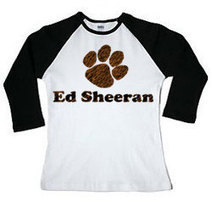 ED SHEERAN One Direction Stylish Paw Print 3/4 Long Sleeve Shirt | New Collection | Scoop.it