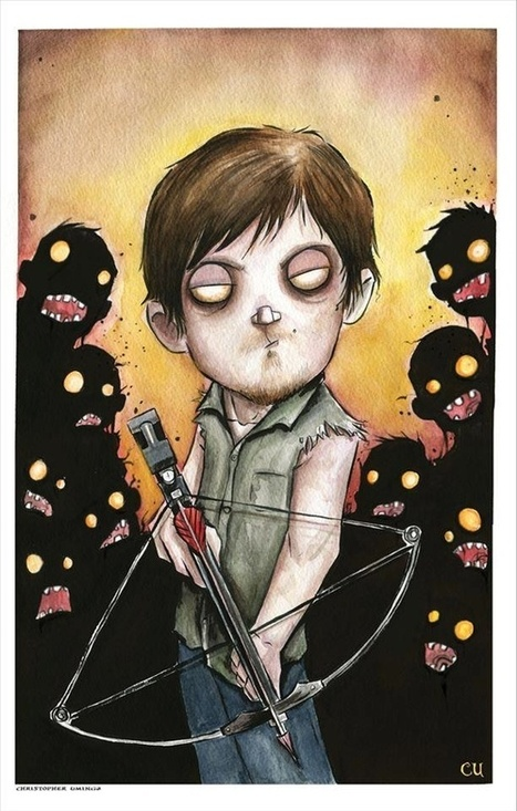 The Walking Dead Characters in Watercolors and Ink - My Modern Metropolis | Le It e Amo ✪ | Scoop.it