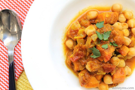 Spicy Vegan Potato and Chickpea Stew from SkinnyMs.com — Low Fat Vegan Chef Recipes   Veganism   Scoop.it