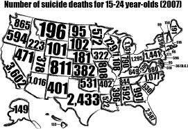 Number of suicides in each state   Suicide   Scoop.it