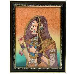 Jaipuri Wooden Gemstone Painting By Little India   Home & Kitchen   Scoop.it