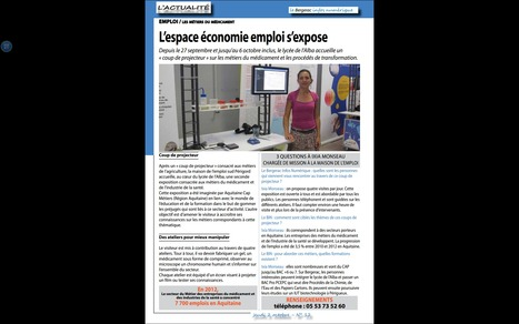 L'emploi dans l'industrie du médicament, formation au Lycée des métiers de l'Alba | Lycée des métiers SUD PERIGORD | Scoop.it