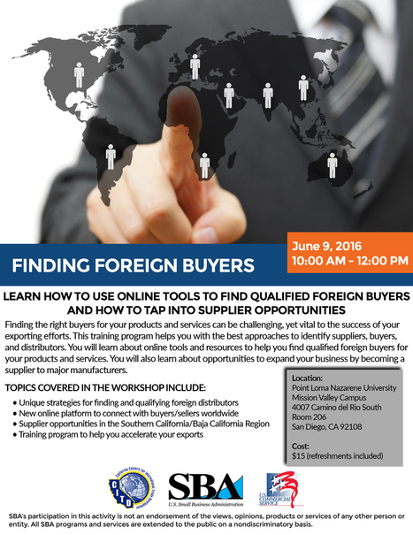 Finding Your Foreign Buyers (2016-06-09) | International Trade | Scoop.it