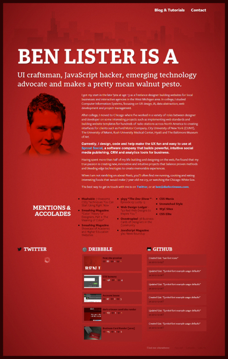 Why Red Is Deadly In Web Design! 15+ Best Examples | Design Revolution | Scoop.it