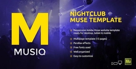 Musiq Nightclub Website Muse Template 2015 - Download New Themes | Sports & Entertainment | Scoop.it