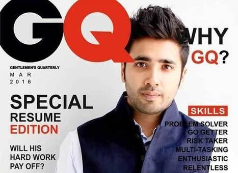 Il réalise un CV magazine pour décrocher un stage chez GQ | La Boîte à Idées d'A3CV | Scoop.it