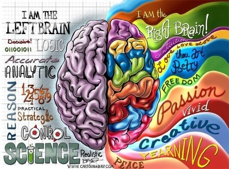 Which part of your brain do you use?  Awesome info-graphic illustration from artist Bryant Arnold. | Common Core and Technology Education | Scoop.it