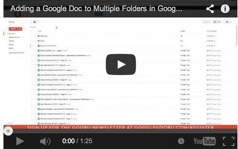 Handy Google Drive Tip for Teachers- Moving Docs to Multiple Folders ~ Educational Technology and Mobile Learning | Education and Technology | Scoop.it