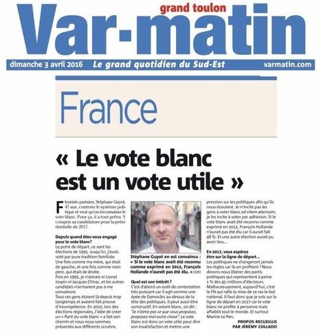 Var Matin 3 avril 2016 - Citoyens du Vote Blanc | Le vote blanc | Scoop.it