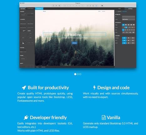 12 outils pour créer des prototypes de site web et d'application mobile | Réseaux sociaux | Scoop.it