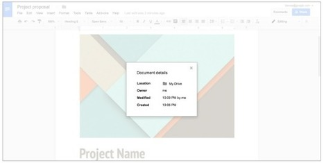See a snapshot of information about a file in Google Docs, Sheets, and Slides | All Things Google | Scoop.it