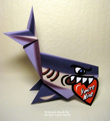 Paper Shark 5 Photos | Origami Shark for Valentine's Day | 049 | Kitsch | Scoop.it