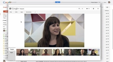 Gmail sustituye el chat de vídeo por los Hangouts de Google+ | A New Society, a new education! | Scoop.it