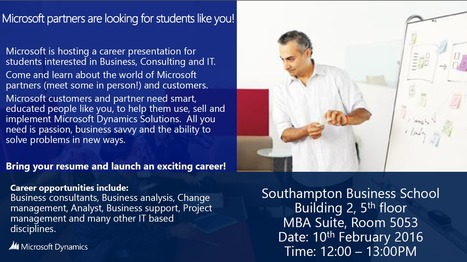 Microsoft event 10th Feb | UoS Business School Undergraduate News | Scoop.it