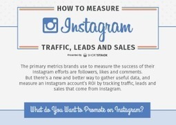 How to Measure Instagram Traffic, Leads and Sales [Infographic] | Social Media, SEO, Mobile, Digital Marketing | Scoop.it