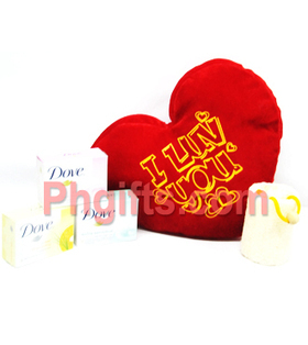 Order Bath and Beauty Package for your finacé with red heart shaped pillow. Deliver anywhere in Philippines. | MOTHER'S DAY GIFT IDEAS | Scoop.it