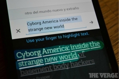 Updated Google Translate for Android reads text from photos, adds ... | Chilean Spanish | Scoop.it