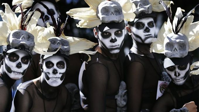 Mexico City stages first Day of the Dead parade