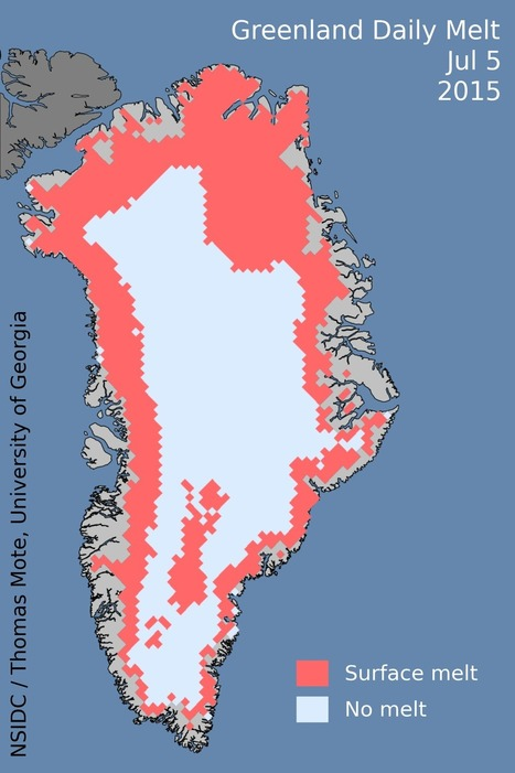 #Greenland's ice is #melting faster this summer under a dome of high pressure #climate | Messenger for mother Earth | Scoop.it