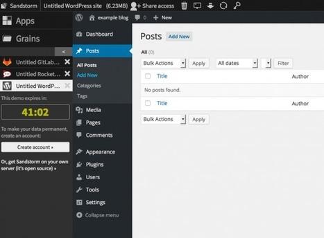 Sandstorm – Une plateforme open source pour votre cloud personnel « | giulian | Scoop.it