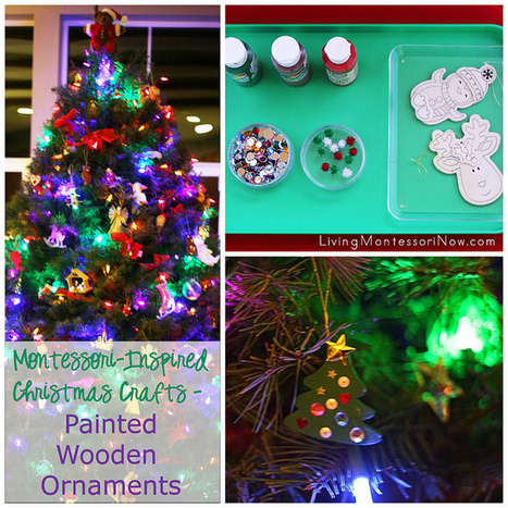 Montessori-Inspired Christmas Crafts – Painted Wooden Ornaments | Montessori Inspired | Scoop.it